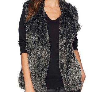 Michael Stars Short Cosy Black Fur Vest - Large